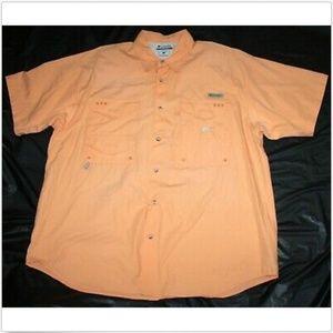 Columbia PFG Short Sleeve Button Front Shirt